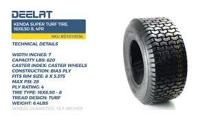 Kenda Super Turf Tire, 16X6.50-8, 4PR