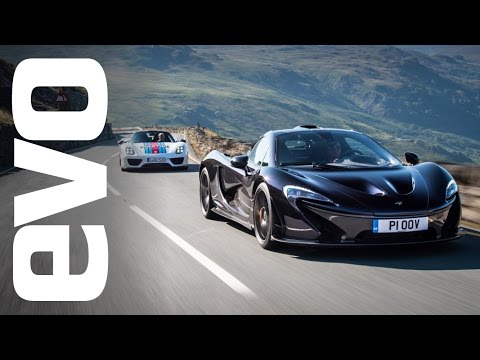 McLaren P1 v Porsche 918 Spyder. Which is fastest? evo Track Battle