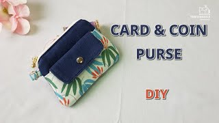 DIY/ CARD AND COIN PURSE/ 귀여운 카드 & 동전지갑 만들기/ Sewing/ Tutorial/ [tendersmile Handmade / 텐더스마일]