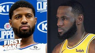 Stephen A.: Paul George dissed LeBron by saying the Clippers have a better duo | First Take