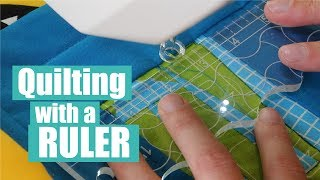 Machine Quilting With Rulers - Clarity Ruler Foot Review