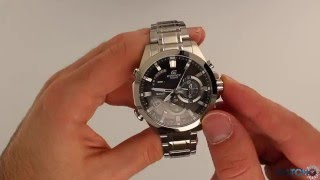 Casio Edifice Analogue Bluetooth Watch Tough Solar Black EQB-510D-1AER - Hands On Review