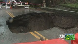 Crews Work To Fix Orinda Sinkhole As Another In Nearby Moraga Continues To Languish