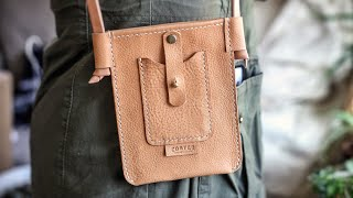 DIY Leather Bag With Rolled Edges