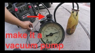 [DUAL USE] modified TIRE INFLATOR into vacuum pump√ Fix it Angel
