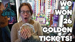"We Found A ""Broken"" Willy Wonka Coin Pusher & Won BIG!"