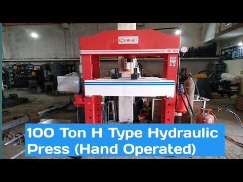OMKAR Make Hand Operated Hydraulic Press Machine - 10 Ton