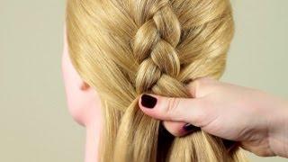 """Смотреть онлайн Как плести """"обратную"""" французскую косу"""