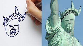 ТЕСТ на УПОРОТОСТЬ: Что будет если детские рисунки станут РЕАЛЬНОСТЬЮ??