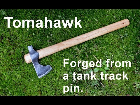 Forging an axe - tomahawk from a tank track pin