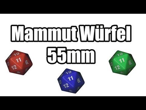 Koplow 55mm Würfel - W20 - 55mm [Full HD]