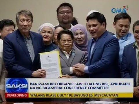 Saksi: Bangsamoro Organic Law o dating BBL, aprubado na ng bicam