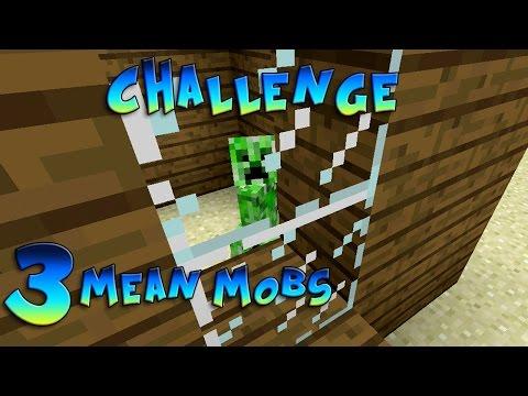 Minecraft Xbox - Challenge Mean Mobs - Glass! [3]