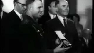 Юрий Гагарин в Лондоне. 1961 год.