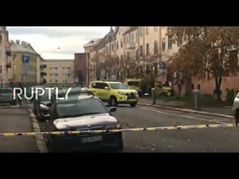 LIVE: Several injured after armed man highjacks ambulance and drives into bystanders in Oslo