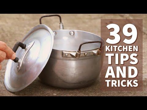 סרטון קצבי המציג 39 טיפים גאוניים שייקלו על עבודת המטבח שלכם