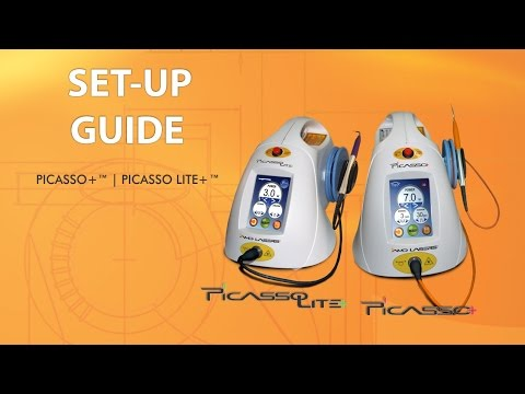 Setting up the Picasso Plus dental laser