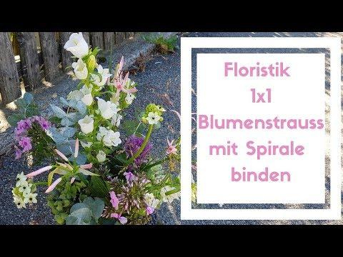 1x1 Floristik Blumenstrauss mit Spiralen Technik binden - Blumenstrauss wie ein Profi binden