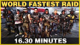 The Division 2 | World Record Raid Run 16.30 min