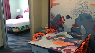 Room Tour Art of Animation Finding Nemo Family Suite Walt Disney World