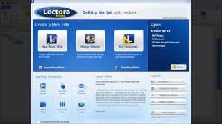 Getting Started with Lectora Inspire Version 11