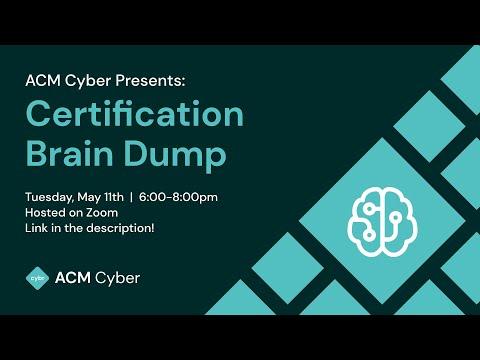Certification Brain Dump | Spring 2021 - YouTube