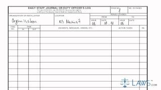 Learn How to Fill the DA form 1594 Daily Staff Journal or Duty Officers Log