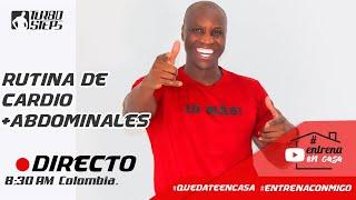#QuedateEncasa  RUTINA DE CARDIO ABDOMINALES TABATA EN CASA#EntrenaConmigo