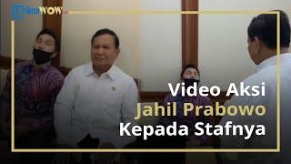 Aksi Jahil Prabowo Subianto saat Lihat Stafnya Tertidur Pulas