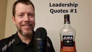 ASMR Reading & Drinking | Leadership Quotes #1 | Isle Of Jura 10 Yr Single Malt Scotch