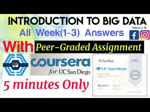 Introduction to Big Data Coursera, all week(1-3) quiz answers with ...