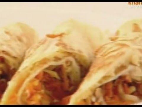 Stuffed Omelette Roll - Sanjeev Kapoor - Khana Khazana