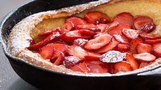 Strawberry Dutch Baby Pancake Recipe
