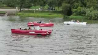 Autofest Amphibious Water Cars Having Fun In The River