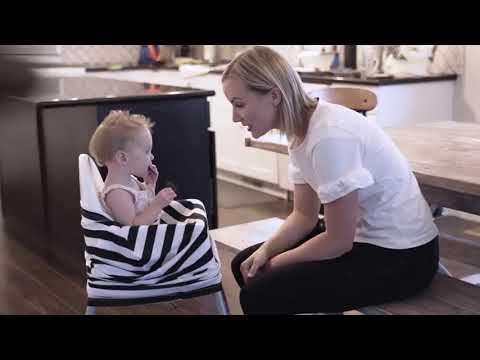 Накидка для кормления / милкснуд 4 в 1дышащий чехол для коляски / автомобильного кресла / детского стульчика / кормления Nursing Cover (NC-21046) Video #1
