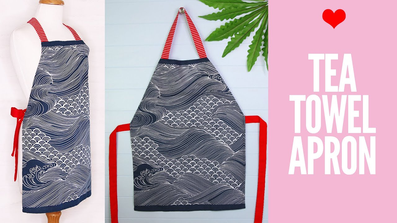 DIY Tea Towel Apron | Dish Cloth Apron Tutorial - YouTube