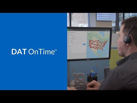 Video Thumbnail: Video: DAT OnTime Load Tracking