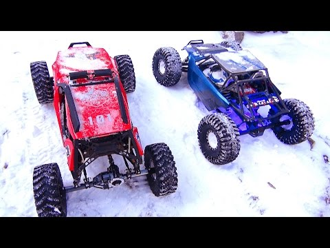 RC ADVENTURES - Crazy Canadians Extreme Winter Trail Trucking In Kananaskis - RC Trucks In Snow!