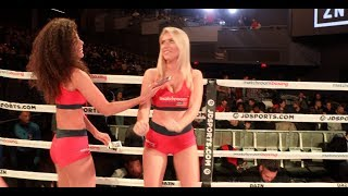 SAMANTHA KUMIKO & THE MATCHROOM USA RING-CARD GIRLS TAKE OVER IFL TV IN NEW YORK CITY