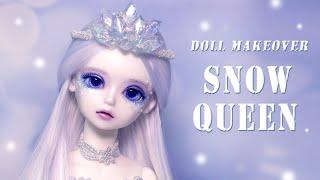 블루페어리 구체관절인형 메이 눈의 여왕 변신! Snow Queen Repaint Custom OOAK Doll -BlueFairy BJD -May /딩가의 회전목마 (DINGA)