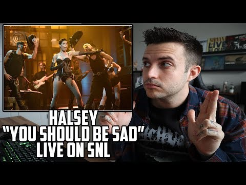 SHE DOES IT AGAIN - Halsey - You Should Be Sad Live on SNL Reaction