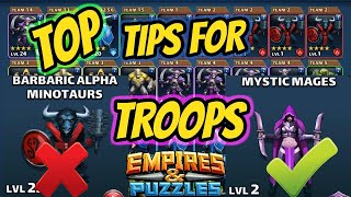 10 Unknown Tips for Troops in Empires and Puzzles