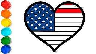 How To Draw An American Flag Easy ฟรวดโอออนไลน ดทวออนไลน