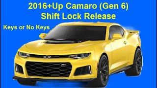 2016+Up Camaro (Gen 6) Shift Lock Release