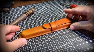[DIY] Handmade Leather Pen Case | Hộp Bút Da Thật