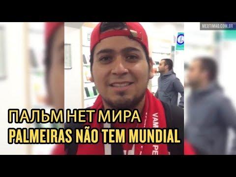 Torcedores gringos na Rússia já sabem que o Palmeiras não tem mundial