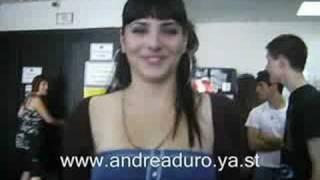 Андреа Дуро, Saludo de Andrea para su web OFICIAL