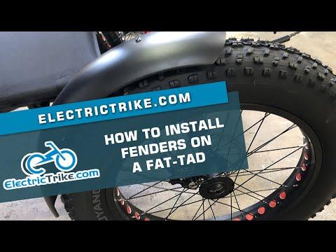 Electric Trike | Fat-Tad Fender Install