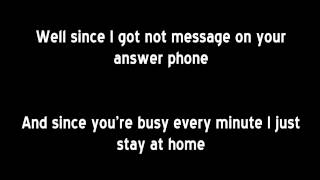 Bee Gees - Alone (lyrics)