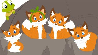 four little foxes playing in the woods nursery rhyme for kids